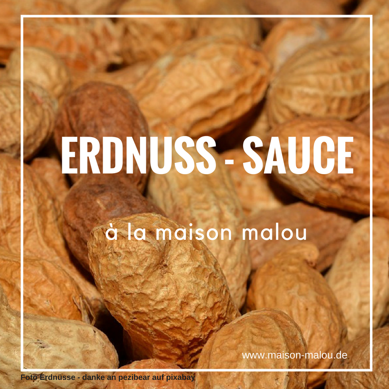 Erdnuss – Sauce à la maison malou